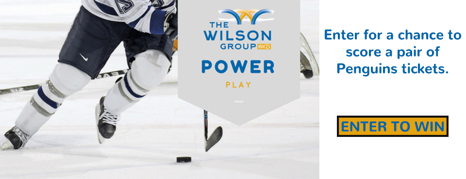 Score two Penguins tickets with The Wilson Group's Power Play Giveaway